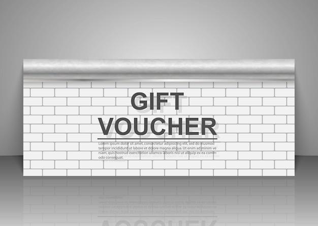 Plantillas de vales de regalo, certificados de descuento.