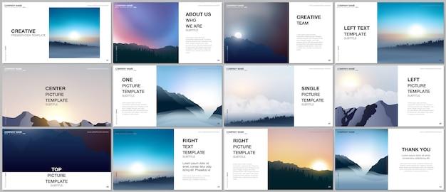 Plantillas vectoriales de diseño de presentación, plantilla multipropósito para diapositiva de presentación, portada de folleto
