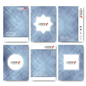 Plantillas vectoriales modernas para folletos, volantes, revistas de portada o informes en tamaño a4.