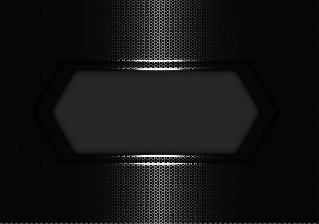 Plata hexagonal banner de lujo.