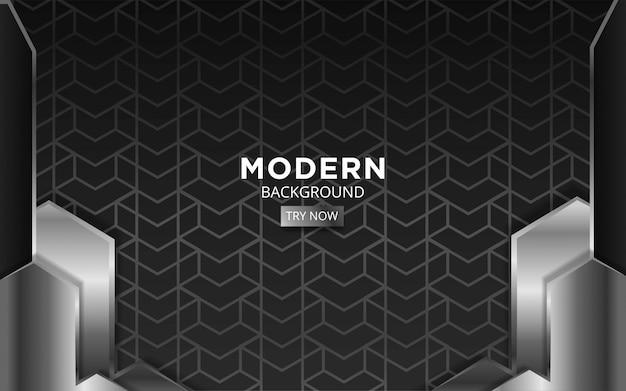 Plata premium abstracta moderna con diseño geométrico.