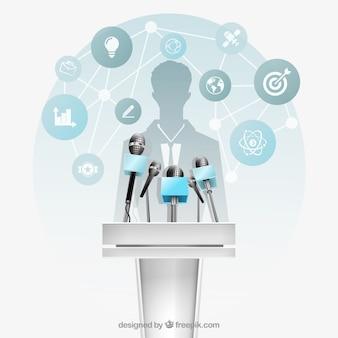 Plataforma de la conferencia de negocios
