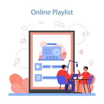 Plataforma de listas de reproducción de radio en línea