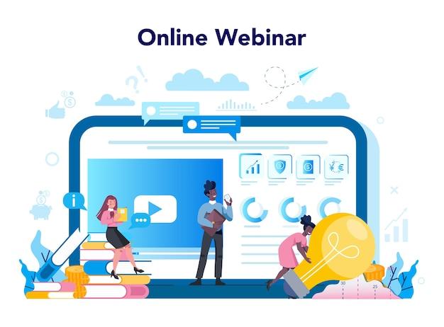 Plataforma o servicio bancario en línea