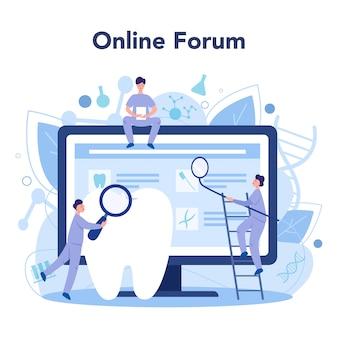 Plataforma o servicio en línea para dentistas