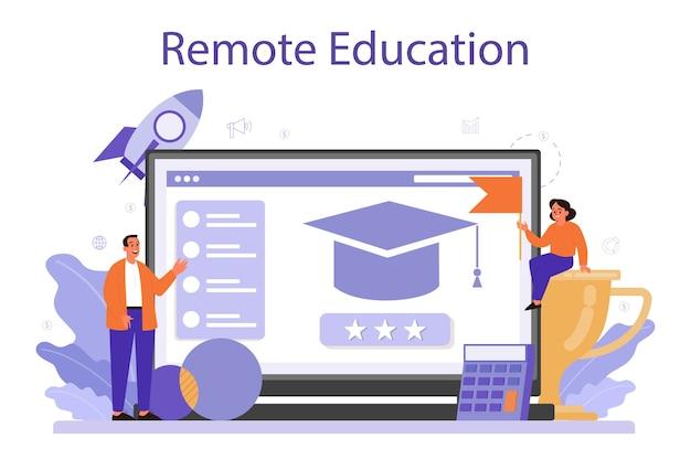 Plataforma o servicio en línea de educación gerencial.