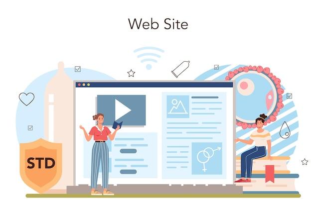 Plataforma o servicio en línea de educación sexual. lección de salud sexual