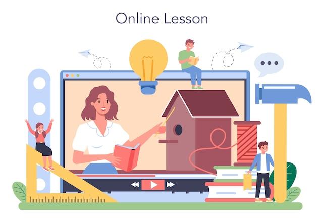 Plataforma o servicio en línea de la escuela de arte
