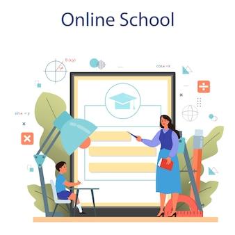 Plataforma o servicio en línea de la escuela de matemáticas