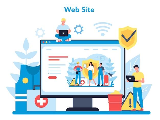 Plataforma o servicio en línea de osha