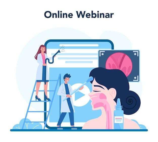 Plataforma o servicio en línea de otorrinolaringólogo
