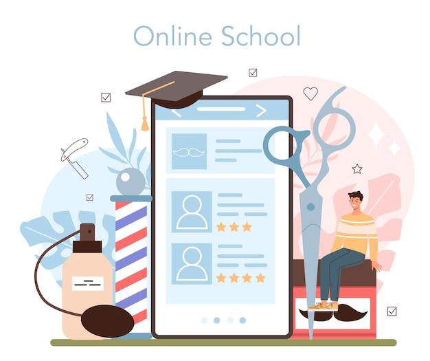 Plataforma o servicio online de peluquería