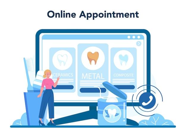 Plataforma o servicio online de profesión de dentista