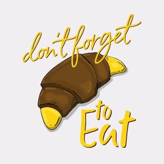 Plátano chocolate y eslogan.