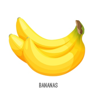 Plátanos populares alimentos sabrosos cosas maduras