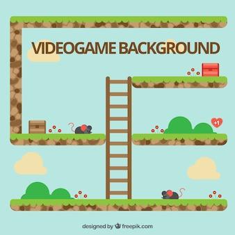 Platform game with a ladder