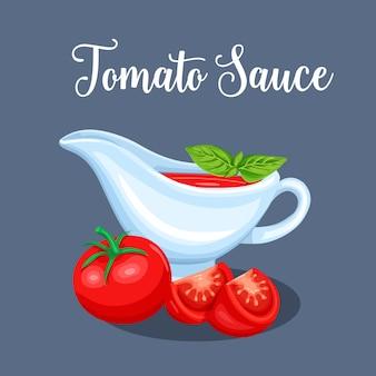 Platillos con salsa de tomate y verduras.