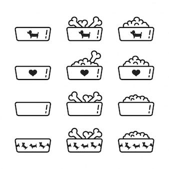 Plato de comida para perros