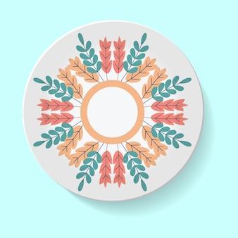 Platos decorativos para diseño de interiores plato vacío plato de porcelana diseño de maqueta