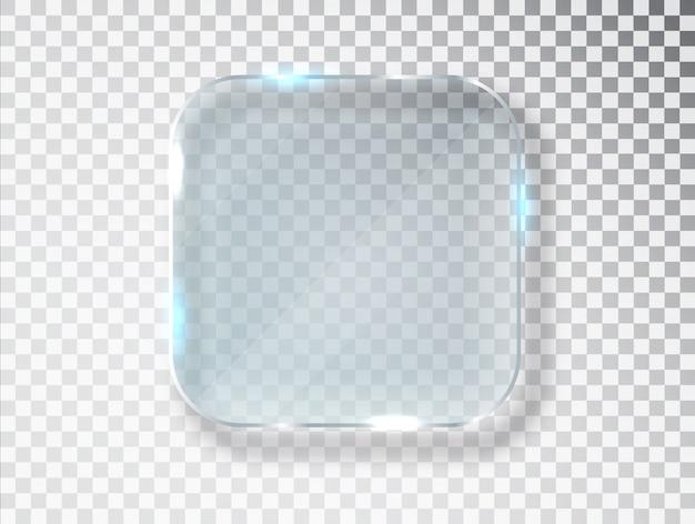 Platos de vidrio. textura realista con reflejos y brillo en el transparente.