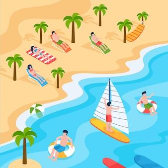 Playa isométrica