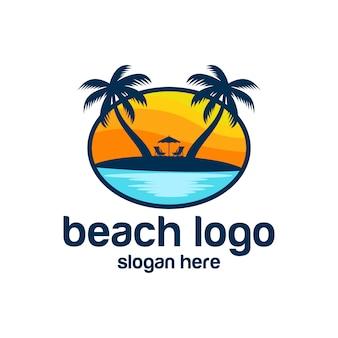 Playa logo vectores