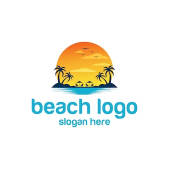 Playa logo vectores
