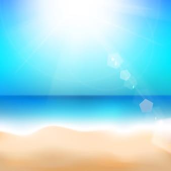 Playa y mar tropical.