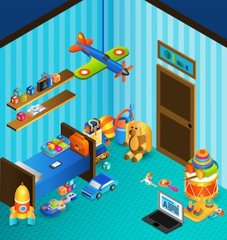Playroom concept isometric
