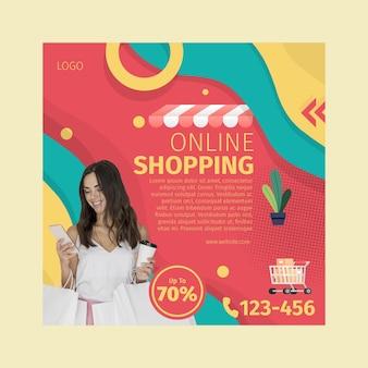 Plaza de volante de compras online