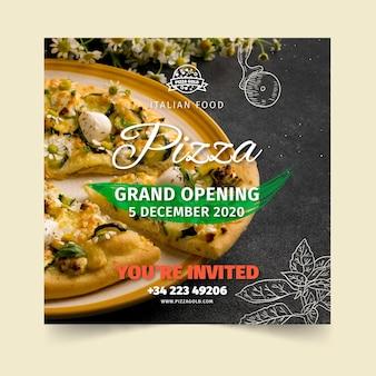 Plaza de volante de restaurante de pizza