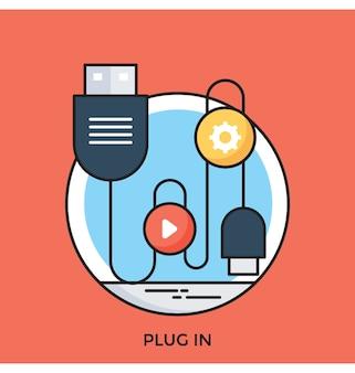 Plugin flat vector icon