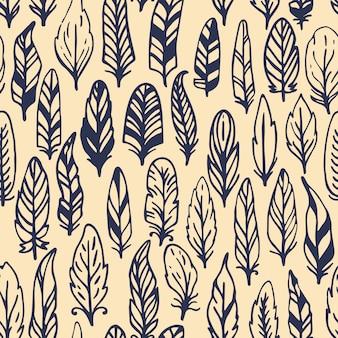 Pluma rústica de patrones sin fisuras