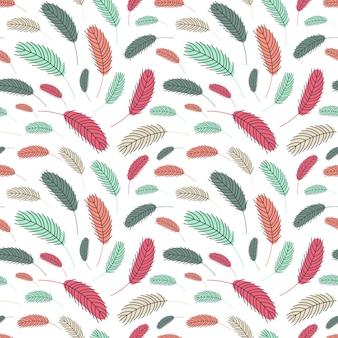 Plumas de pájaro de patrones sin fisuras patrón de pascua