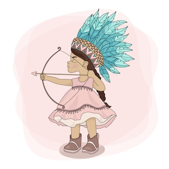 Pocahontas hunt indian princess hero
