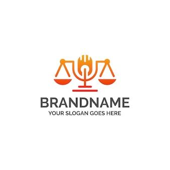 Podcast logo law canal de micrófono