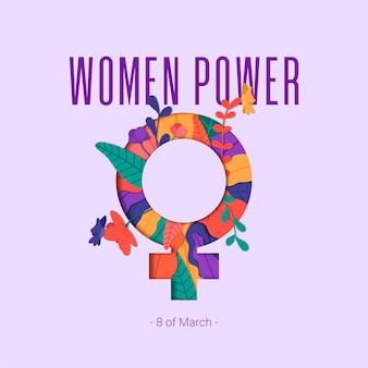 Poder de las mujeres vector gratuito