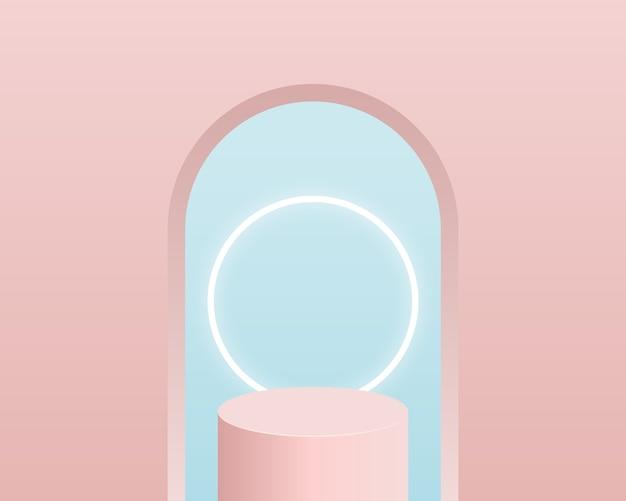 Podio de cilindro vacío. diseño para presentación de producto.