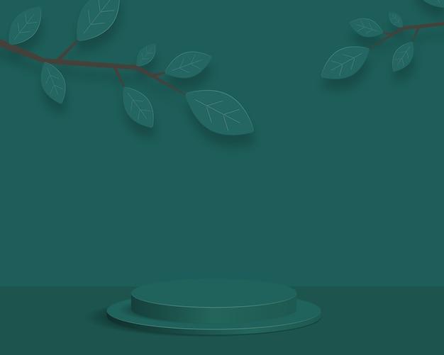 Podio de cilindro vacío sobre fondo mínimo. escena mínima abstracta con formas geométricas. diseño para presentación de producto. 3d