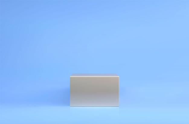 Podio cuadrado, pedestal o plataforma, fondo para la presentación de productos cosméticos. podio 3d lugar de publicidad. fondo de soporte de producto en blanco en colores pastel.