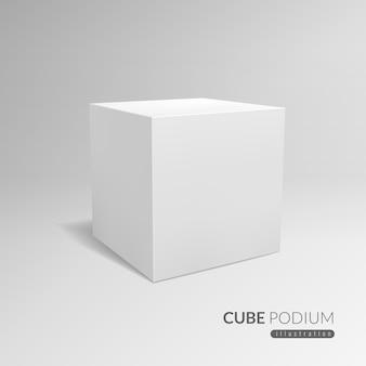 Podio de cubo.