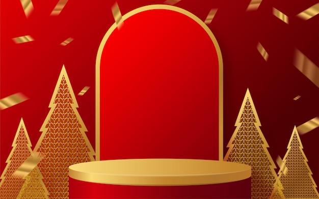 Podio escenario redondo podio y arte en papel año nuevo chino festivales chinos festival de medio otoño