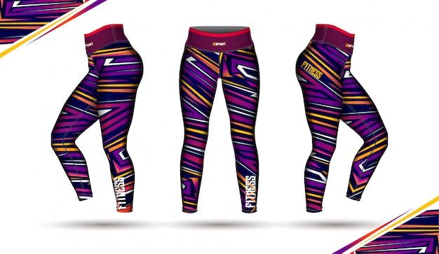Polainas pantalones entrenamiento moda ilustración vector