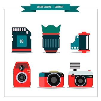 Polaroids y elementos de fotografía