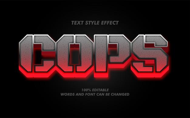 Policías audaces fuertes o efecto de estilo de texto del ejército