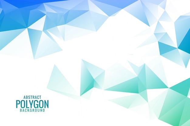 Poligonal colorido abstracto con triángulos