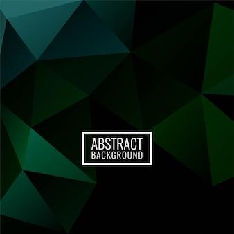 Polígono geométrico abstracto fondo verde oscuro