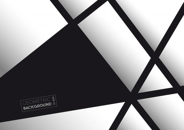 Polígonos abstractos geométricos en blanco y negro