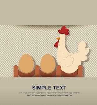 Pollo y huevo vector
