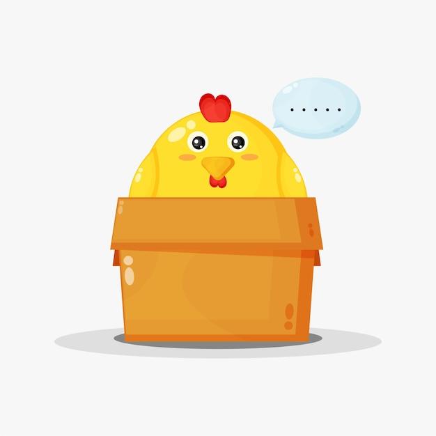 Pollo lindo en la caja